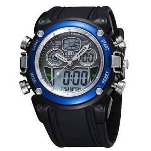 Digital Quartz Mens, Teenagers Sport Wristwatch Silicone Strap Sports Watch