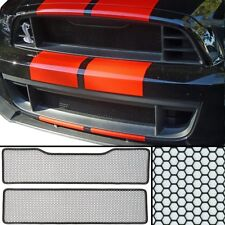 CCG FLAT BLACK GRILL GRILLE MESH INSERT KIT FOR A 2013-14 FORD MUSTANG GT500