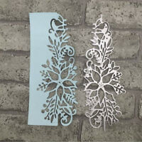 Cutting Dies Flower Corner Xmas Christmas Poinsettia Craft Frame Metal 3D Stamp
