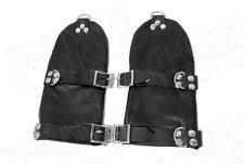 NEW BDSM Bondage Genuine Lockable Soft Leather Fist Mitts Gloves Hand Restraint
