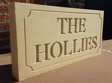 Deeply engraved Bathstone stone house sign 500 x 200mm x 50mm