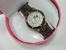 Hello Kitty  Girls Women Fashion Crystal Quartz Wrist Watch Animal Print Band