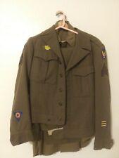 WW2 US Army Air Force Engineering Sergent Dress Uniform Jacket & Shirt & Pants