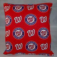 Washington Nationals Pillow Nationals Pillow MLB Handmade in USA Pillow Baseball