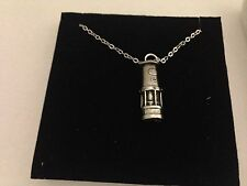 Davy Miners Lamp Box1 F Emblem on Silver Platinum Plated Necklace 18""
