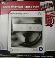 Nintendo Wii Black Comfort Racing Wheel Pack Power A Video Game Accessory - NEW