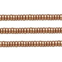 Wood Rondelle Beads Copper 8x4mm 16 Inch Strand