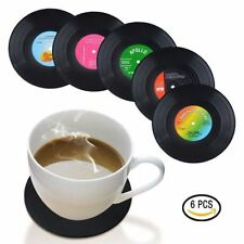 6 Creative Vinyl Record Coaster Cup Drinks Holder Mat Tableware Placemat Home