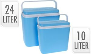 Large 24L/10L Insulated Freezer Portable Cool Box Beer Picnics Festivals Beach