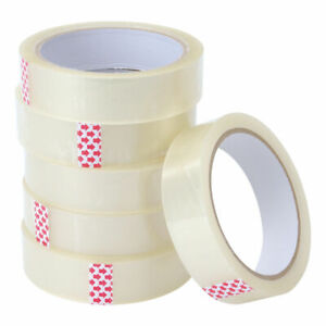 """CLEAR TAPE BIG ROLLS PARCEL PACKING TAPE 1"""" 25MM X 60 M TAPE PACKAGING UK Seller"""