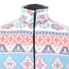Vintage Patterned Fleece Jacket | Aztec Retro Coat Zip Ski Snow 90s Pastel