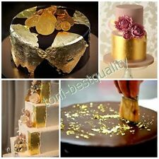 50pcs.Edible Genuine Real Pure 24K Gold Leaf for Decorate Cake Food Artist Lover