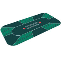 "71"" x 36"" Rubber Foam Poker Table Top Layout Game Mat 8 Players w/ Carry Bag"