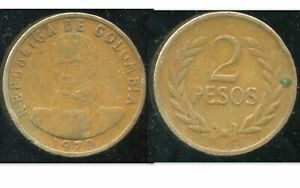 COLOMBIA  COLOMBIE 2 pesos 1979    ( aus )