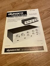 Dynaco PAS-2X & 3X Stereo Preamp Assembly + Operation Original Instructions
