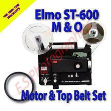 Elmo st-600 M-O Super 8mm CINE PROIETTORE le cinghie di trasmissione set di 2