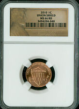 2010 LINCOLN CENT LOGO SHIELD NGC MS-66 BUSINESS STRIKE RARE  *