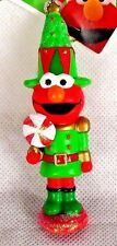 NEW! Sesame Street Elmo Red Pointed Hat Lollipop Christmas Tree Ornament Holiday