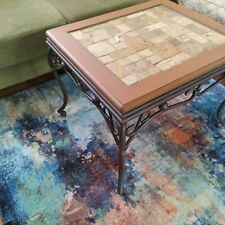 One-of-a-kind custom Rustic TILE TOP Wood Coffee or End Table