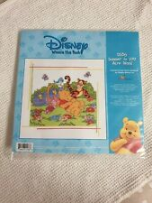 Disney Winnie Pooh Cross Stitch Kit - Summer In 100 Acre Wood - D186 25cm x 25cm