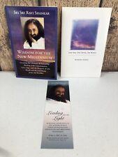 WISDOM FOR NEW MILLENNIUM Sri Sri Ravi Shankar Paperback Book + God-Truth-World