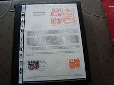 FRANCE - document officiel 1er jour 19/3/1983 (dewasne aurora-set) french