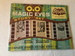 1966 ORIGINAL Batman True Vue Magic Eyes Story Set/For Use W/ Stereo Viewer