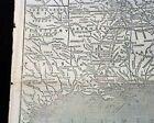 Terrific CONFEDERATE STATES OF AMERICA Civil War Southern MAP 1861 Old Newspaper