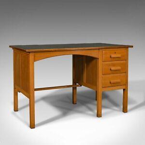 Vintage Clerk's Desk, English, Oak, Writing, Study Table, Mid 20th Century, 1960