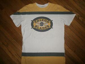 retro TOLEDO BLADES JERSEY T SHIRT Softest Jersey Tee Minors Hockey Goaldigger S