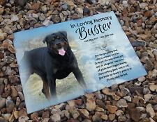 Rottweiler pet dog, In loving memory, Heastone gravestone memorial plaque