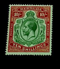 Bermuda SG92 10/- George V 1918 m/mint CV £140
