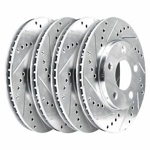 Fit 2005-2014 Ford Mustang HartBrakes Full Kit Drill/Slot Brake Rotors