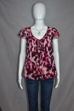 NWT Worthington Petite PM Pink, White, and Black Sheer Blouse with Built in Tank