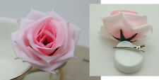 Romantic Silk Rose Hair Accessory Flower Hairpin Hair Clip For Prom pink