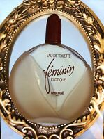 RARE Vintage  FABERGE Feminin Exotique  edt  50 ml left splash women perfume