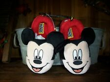 MICKEY MOUSE BOY TODDLER CASUAL SLIPPERS SIZE 9-10 HOUSE SHOES RUBBER SOLES NEW