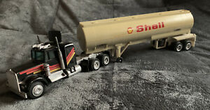 """Shell Tanker Truck Die Cast Tractor. Vintage. Collectible Approx 16"""" Total"""