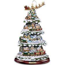 Thomas Kinkade Wonderland Express Animated Tabletop Christmas Tree With Train...