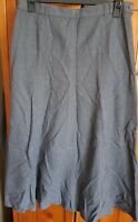 Ladies Grey Smart Formal Long Lined Skirt Size 14 Work Style