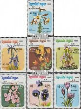 Cambodia 673-679 (complete issue) unmounted mint / never hinged 1985 Flowers