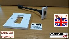 HDMI Hi Speed v1.4 Modular Faceplate Wall Plate Outlet Fly Lead 4k HD 1080 Socke