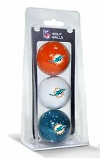 Miami Dolphins 3 Pack Golf Balls [NEW] NFL Golfing Pk CDG