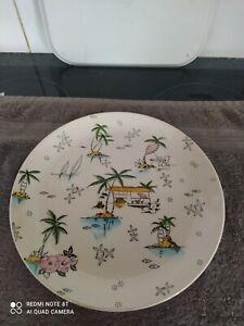 "1950's/1960's Royal Tudor Ware South Pacific 10""DINNER Plate - Barker Bros Ltd"