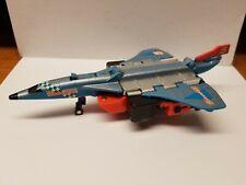 1985 Hasbro Transformers Autobot Silverbolt Blue Red Concord Plane Free Shipp