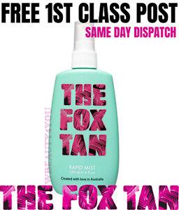 The New Fox Tan Rapid Tanning Mist 120ml 1ST CLASS POST - SAME DAY DISPATCH