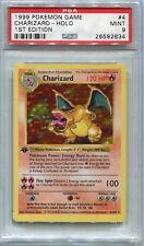 Pokemon Card 1st Edition Shadowless Charizard Base Set 4/102, PSA 9 Mint