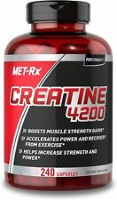 MET-Rx Creatine 4200 Supplement, Supports Muscles Pre and Post Workout, 240 Caps