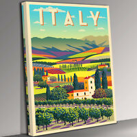 Italy Travel  Canvas Wall Art Picture Print