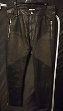 Versace x H&M Limited Edition Leather Studs Pants EU 52 US 36 BNWT DEAD STOCK